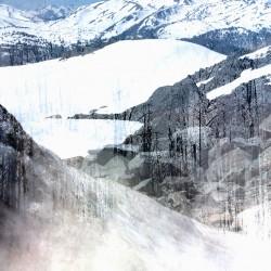 digital fine art printmaking by ellen scobie, mountain, snow