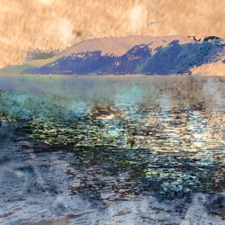 digital fine art printmaking by ellen scobie, ocean, sea, west coast, mountain