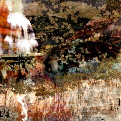 digital fine art printmaking, waterfall, landscape painting