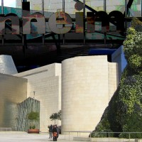 fine art photography, guggenheim museum, bilbao, contemporary photography, abstract city scene, mixed media, digital mixed media, bold composition, modern, layers, texture