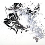 Digital mixed media drawing