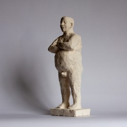 contemporary figurative sculpture in terracotta