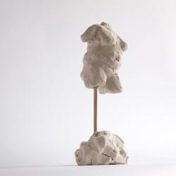 torso contemporary figurative sculpture in terracotta