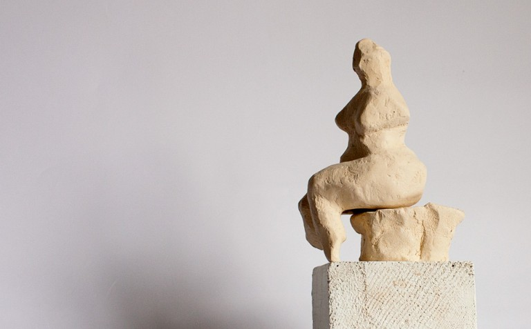 sculpture-maquette-seated-abstract-nude-on-base
