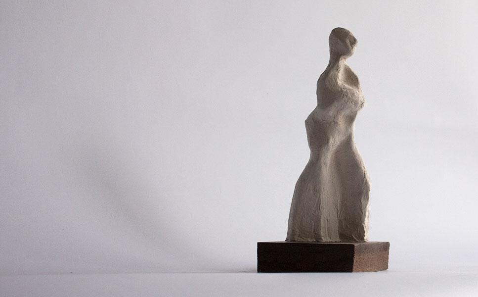 walking female figure by vancouver sculptor ellen scobie