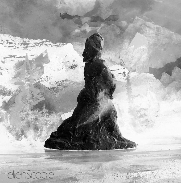 figurative-sculpture-ellen-scobie--woman-sculpture-in-stride
