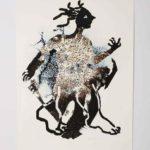Title: On the Go, aqueous pigmented inkjet on fine art paper by Ellen Scobie
