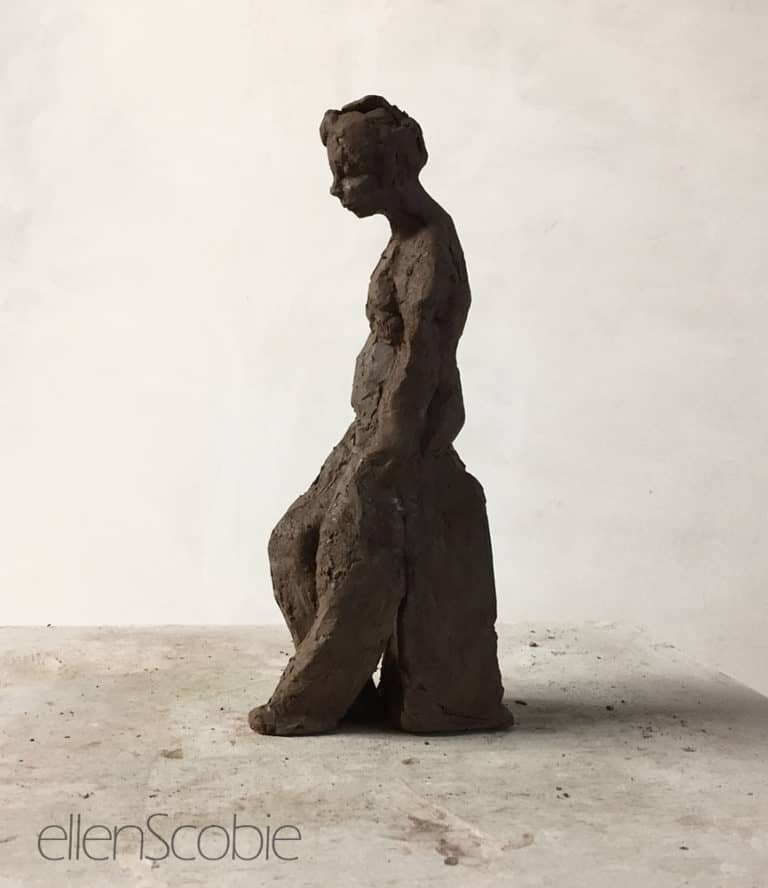 sculpture of relaxed figure